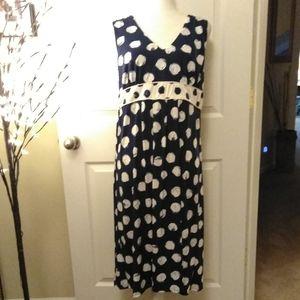 Merona Blue and white circle dress.  Size XL